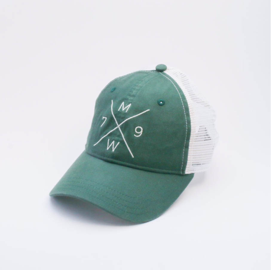 A green truckers hat